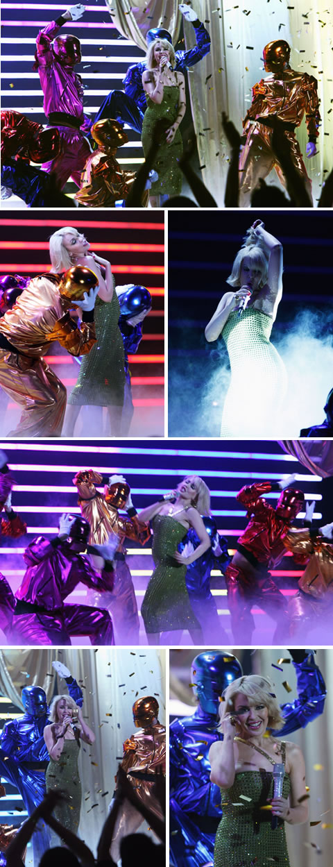 Kylie Performs 'Wow' At The Brit Awards