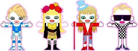 Kylie Paper Dolls