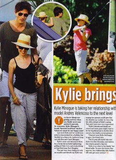 Kylie & Andres in New Idea Magazine
