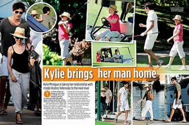 Kylie Brings Her Man Home